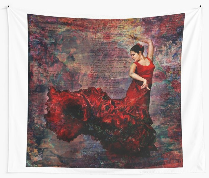 Flamenco - vibrant Spanish dancer by Jo Walsh