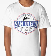 SURFING SAN DIEGO SURF CALIFORNIA SURFER'S PARADISE BEACH SURFBOARD Long T-Shirt