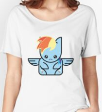 chibi cube icon my little pony rainbow dash Women's Relaxed Fit T-Shirt