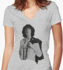 pixel patti Women's Fitted V-Neck T-Shirt
