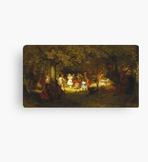 John George Brown - Picnic Party In The Woods Canvas Print