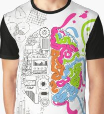 The 'two' brains Graphic T-Shirt