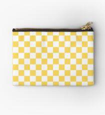 Senf-gelbes und weißes Schachbrett-Muster Studio Clutch