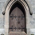 Saint Mary and Saint Finnan Catholic Church door by Maria Gaellman