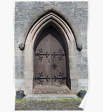 Saint Mary and Saint Finnan Catholic Church door Poster