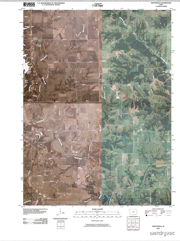 USGS TOPO Maps Iowa IA Hiattsville 20100507 TM von wetdryvac