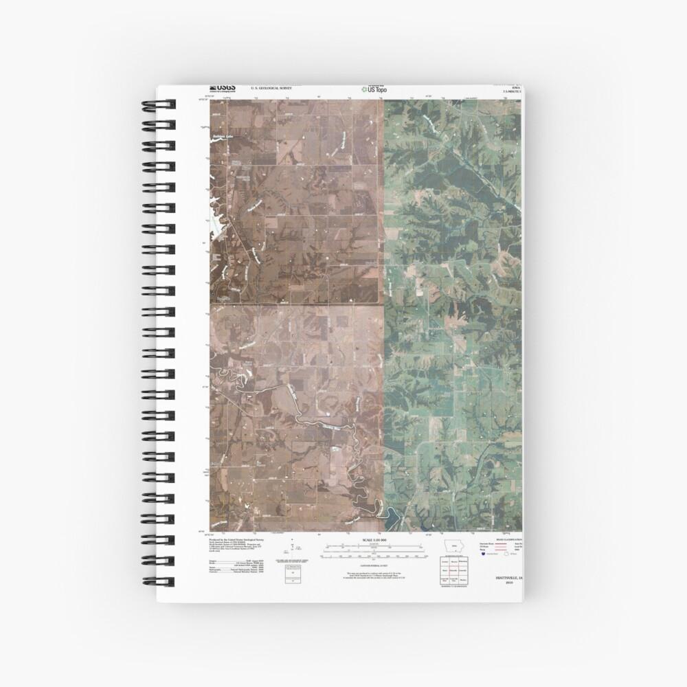 USGS TOPO Maps Iowa IA Hiattsville 20100507 TM Spiralblock