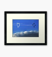 Taking Love to New Heights Framed Print