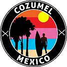 SURFING COZUMEL MEXICO SURF SURFER BEACH OCEAN VACATION by MyHandmadeSigns