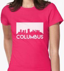 Columbus Skyline Womens Fitted T-Shirt