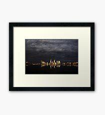 Overcast Perth Framed Print