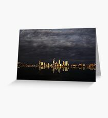 Overcast Perth Greeting Card