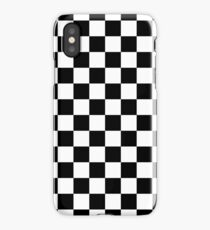 Black And White Checkerboard Pattern iPhone Case/Skin