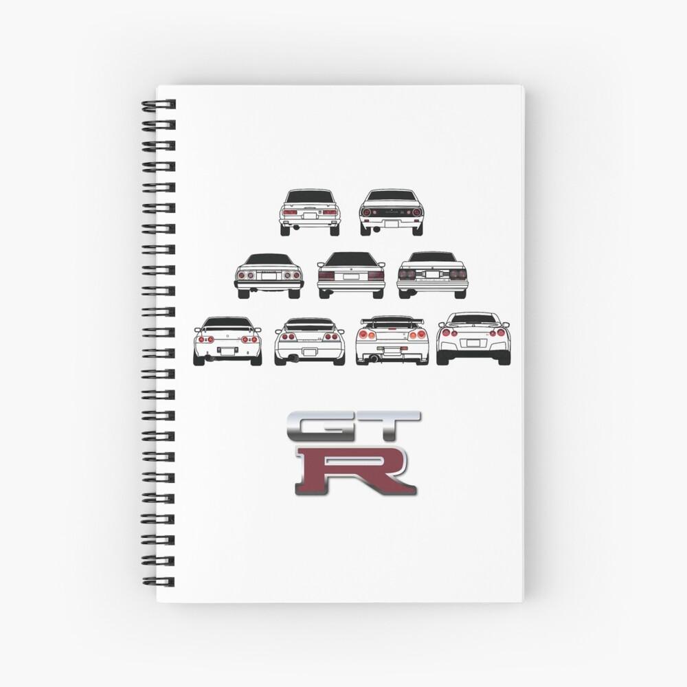 Nissan Skyline Black Cuaderno de espiral