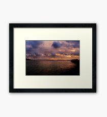 Sunset at Albany Framed Print