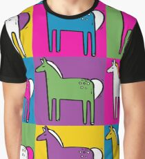 Ponys Grafik T-Shirt