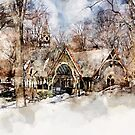 Central Park Dairy Central Park New York by Ann Garrett
