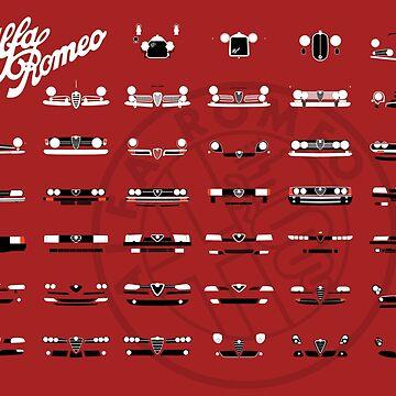 Alfa Romeo Family by AutomotiveArt