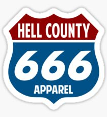 Route 666 - Hell County Sticker
