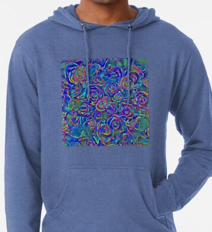 Roses of cosmic lights Lightweight Hoodie