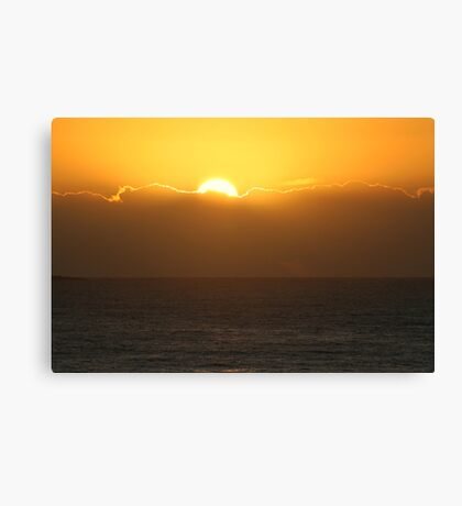 The Sun Is Up Canvas Print