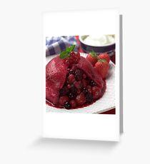 Summer Pudding Greeting Card