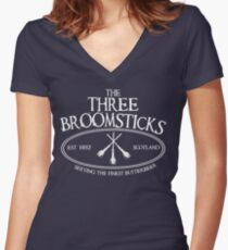 The Three Broomsticks Women's Fitted V-Neck T-Shirt