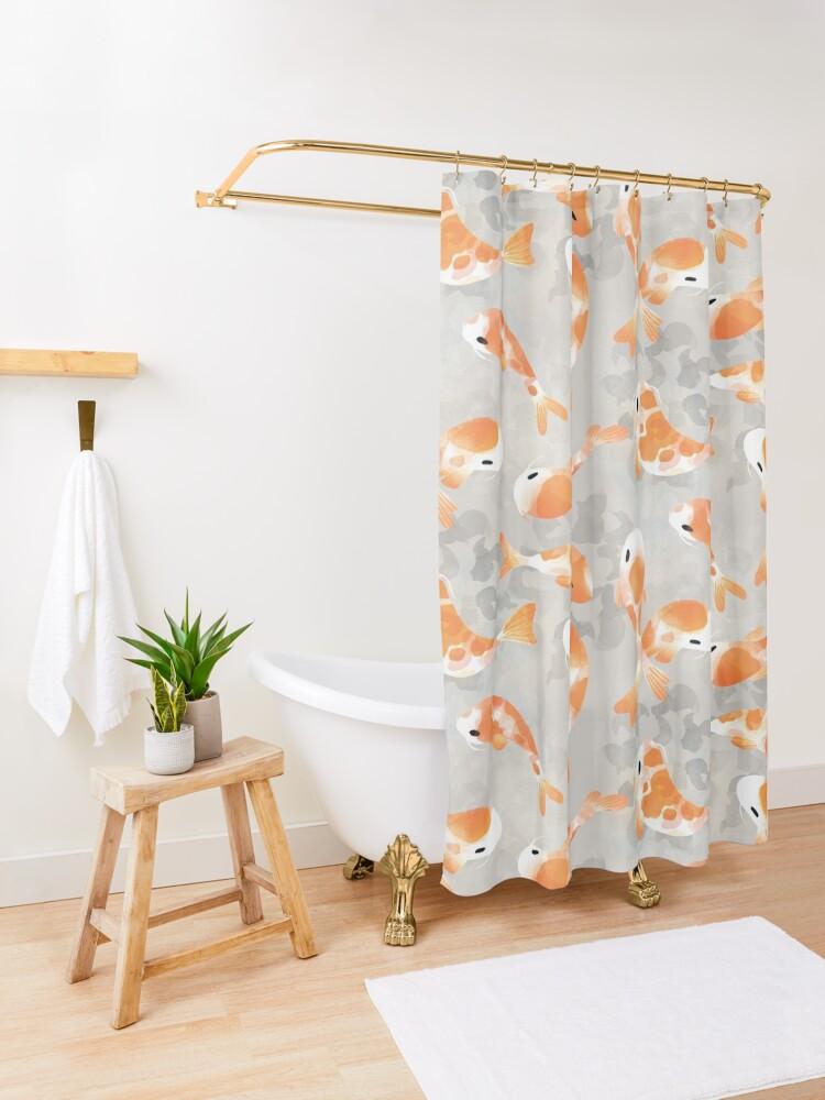 Alternate view of Japanese Koi Fish Shower Curtain