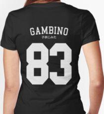 Gambino Jersey Women's Fitted V-Neck T-Shirt