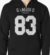 Gambino Jersey Zipped Hoodie