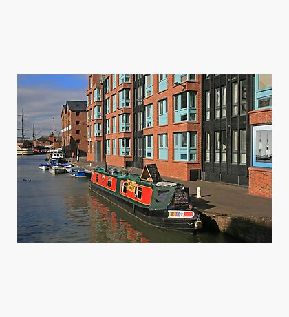 Narrow Boat, Gloucester Docks Photographic Print