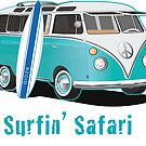 Split Window VW Bus Surfing Safari Van by Frank Schuster