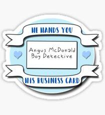 Angus McDonald, Boy Detective Sticker
