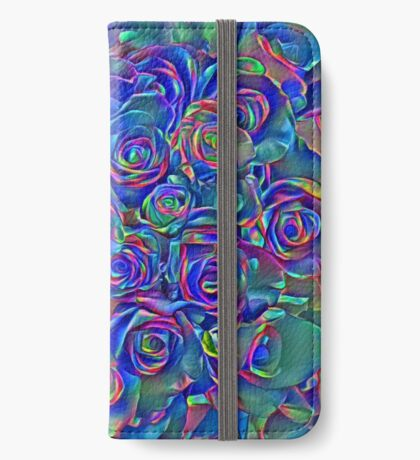 Roses of cosmic lights iPhone Wallet