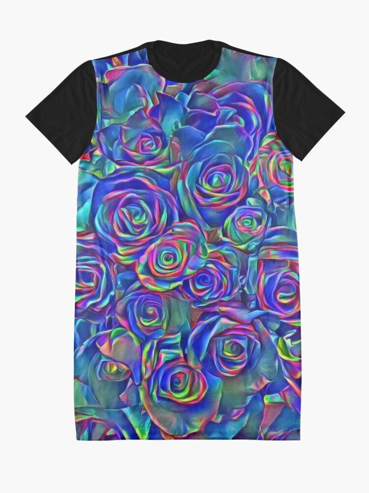 Alternate view of Roses of cosmic lights Graphic T-Shirt Dress