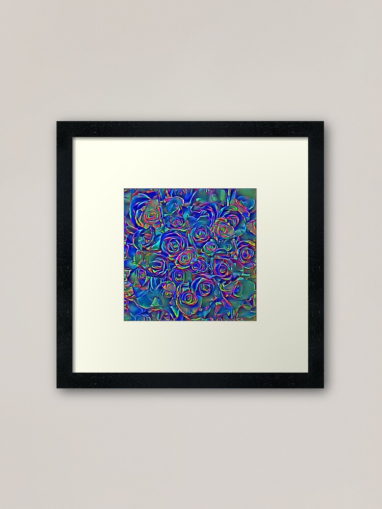 Alternate view of Roses of cosmic lights Framed Art Print