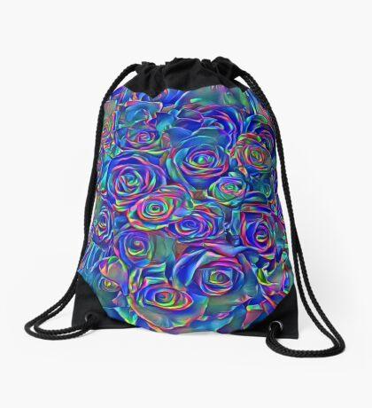 Roses of cosmic lights Drawstring Bag
