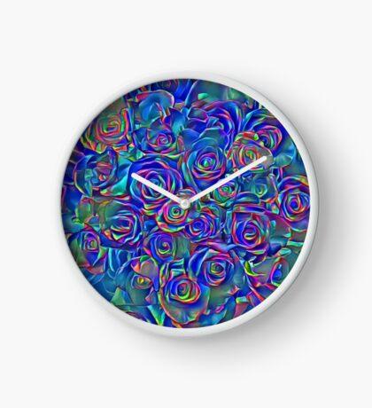 Roses of cosmic lights Clock