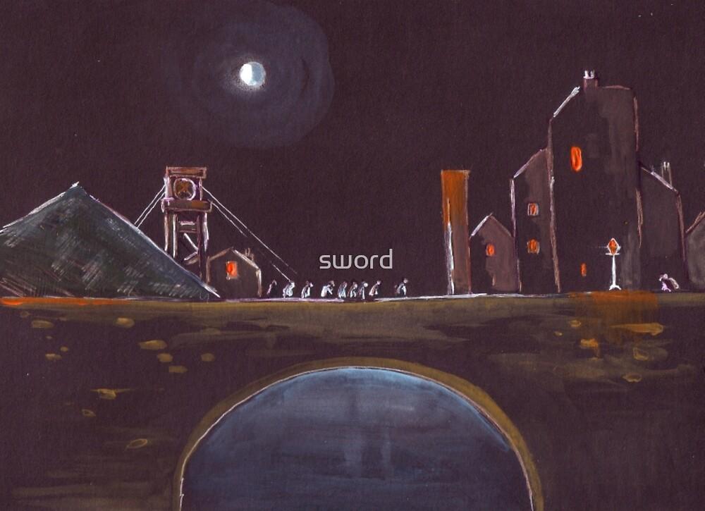 Blue Moon Over Bridge by sword
