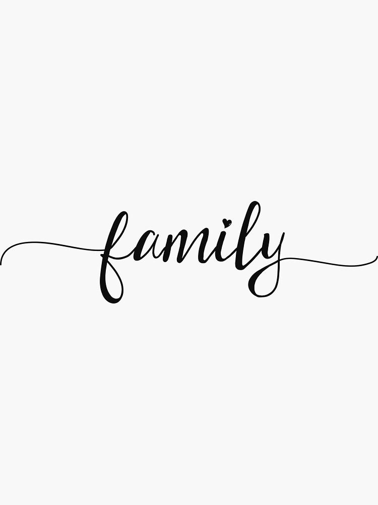 Familie - Girly Typografie von Sago-Design