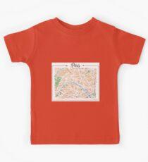 Watercolor map of Paris Kids Tee