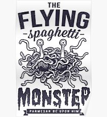 The Flying Spaghetti Monster Poster