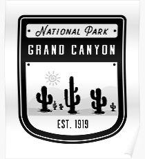 Grand Canyon National Park Arizona Badge  Poster