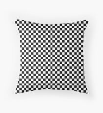 Classic Black and White Checkerboard Repeating Pattern  Throw Pillow