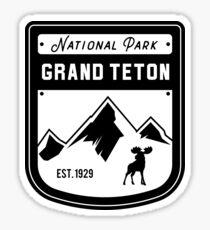 Grand Teton National Park - Jackson Hole Wyoming Badge Sticker