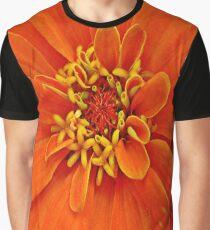 Orange Petals Graphic T-Shirt