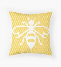Honeycomb Bee Pattern Throw Pillow