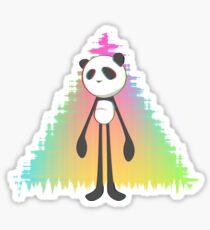 Pandalien glitch rainbow Sticker