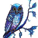 WATERCOLOUR BLUES by Linda Callaghan