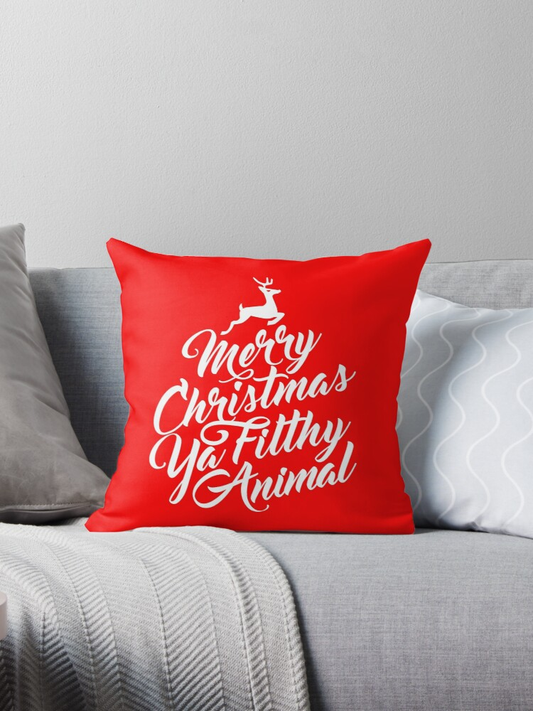 Merry Christmas Ya Filthy Animal Home Alone Movie Quote Design By TeeVision